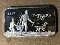 1977 Madison Mint Father's Day 1 Ounce .999 Silver Art Bar
