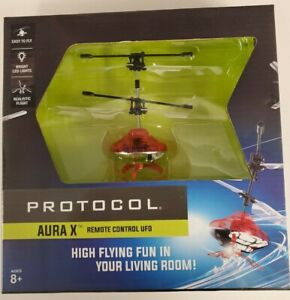 $30 Protocol Aura X LED Lights Durable Remote Control Flying UFO Red Toy