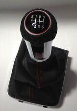 Original VW Golf 7 VII GTI Schaltknauf Alu mit Golfball und roten Nah