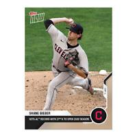Shane Bieber - MLB TOPPS NOW Card 36 - Print Run: 883