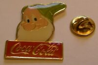 DISNEY COCA COLA BASHFUL DWARF SNOW WHITE vintage pin badge