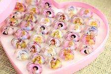25PCS Princess Ring happy birthday party supply girl favor baby shower gift