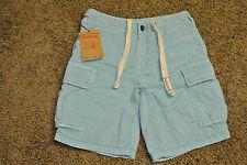 TRUE RELIGION SAMUEL CARGO Shorts 28 NWT$279 Distressed! Shaded Blue! Super RARE