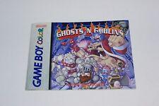 Ghosts n' Goblins Nintendo Game Boy Color Manual Only