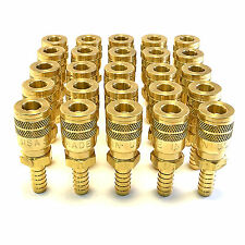 """25 FOSTER SG3703 3/8"""" ID HOSE BARB X 1/4"""" INDUSTRIAL COUPLER BRASS AIR FITTING"""