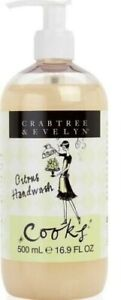 New Crabtree & Evelyn Cooks Citrus Handwash Hand Wash 16.9 fl oz