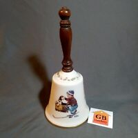 Norman Rockwell Porcelain Bell, A Boy Meets His Dog ~ Gorham 1979 Christmas Bell