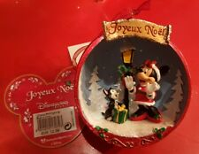 1/2 Boule Minnie & Figaro rouge / red Disneyland Paris Noël / Christmas 2017