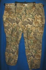 Woolrich Advantage Camo Hunting Cargo pants Men's sz 2XL (44x31) 100% cotton