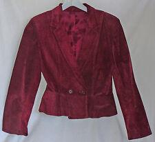 Burgundy genuine suede ladies blazer, Margaret Godfrey, Bagatelle