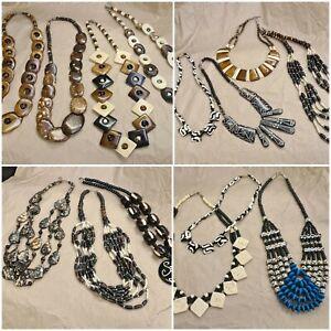 Bone & Bead Tribal Costume Jewellery, Bundle of 14 Necklaces. Vintage to Modern