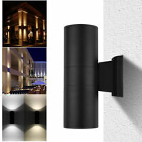 LED Modern Exterior Wall Light Sconce Dual Head Wall Lamp Fixture Outdoor
