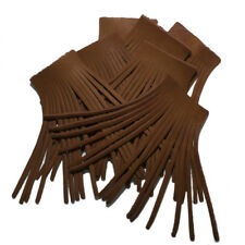 Fringe Genuine Brown Leather 5.5''X 2.75'' Lot of 6  (Made In USA)