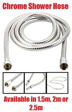 1.5m 2m 2.5m CHROME SHOWER BATH HOSE Stainless Steel Replacement Tube Pipe