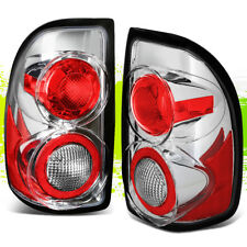 FOR 97-04 DODGE DAKOTA PICKUP CHROME HOUSING CLEAR ALTEZZA REAR TAIL LIGHT LAMP