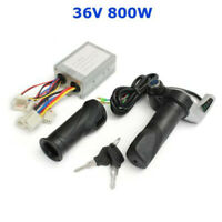 36V 800W Speed Controller Throttle Grips E-Bike Scooter ATV Razor Key Switch
