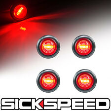 4 PC RED LED LIGHT/LENS ROUND SIDE MARKER TURN SIGNAL LED LIGHT KIT P4