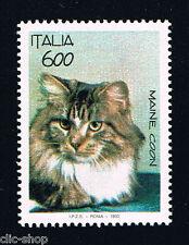 ITALIA 1 FRANCOBOLLO ANIMALI GATTO MAINE COON 600 LIRE 1993 nuovo**