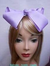 lavender light pur Handmade huge Big Girl Extra Large JUMBO Satin clip Hair Bow