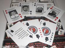 OSAMA BIN LADEN SEPT 9/11 FBI MOST WANTED CRIMINAL PLAYING CARDS 12 DECKS TOTAL
