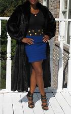 Fabulous Designer black Female Full length Mink Fur Coat  Stroller S-M 4-10/12