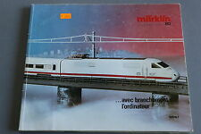 X255 MARKLIN Train catalogueHo 1985 1986 220 pages 26,5*22 cm F wagon voiture