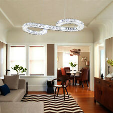 Luxury LED  2 Round Crystal Pendant Lamp Diamond Restaurant Ceiling Light