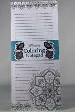 Adult Coloring Notepads-Replace Doodling By Wellspring-NEW In Package!