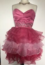 Lipsy Pink Rouched Dress Size 14