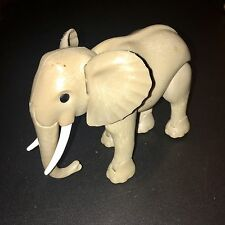Playmobil Geobra 2010 123 Safari Zoo Series Gray Mama Elephant Moveable Parts 5""