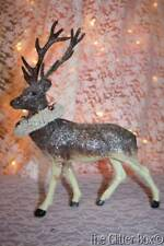 Vintage Style Brown Reindeer Deer Wreath Around Neck Shabby Cottage Chic Christm