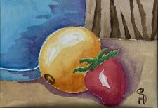 "Original Watercolor Painting, 5"" x 7"" Still Life By Sarazen AnYin"