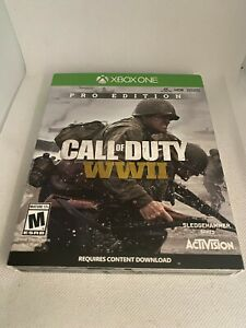 Call Of Duty WWII Pro Steelbook Edition (Microsoft Xbox One, 2013) Used