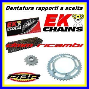 Kit Trasmissione KTM EXC 250 96>97 Enduro catena corona pignone PBR EK 1996 1997