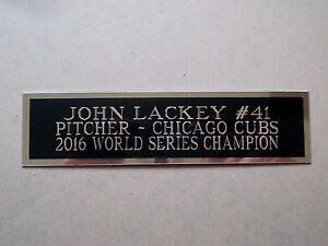 John Lackey Cubs Autograph Nameplate For A Baseball Bat Display Case 1.5 x 6