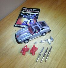 Bluestreak 100% Complete 1984 Vintage G1 Transformers  Action Figure W MANUAL