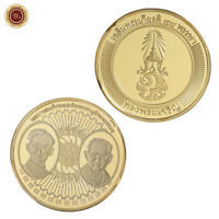 WR King Rama 9 Thailand Gold Coin Medal 2015 88th Birthday Anniversary Souvenirs