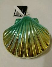 Christmas Holiday Seashell Clam Shell Ocean Blue Yellow Tropical Life Ornament