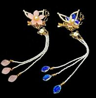 Details about  /Retro Flower Hair Pin Comb Accessory for Kimono Hanfu Party Cosplay