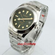 Parnis 40mm Green dial Luminous Sapphire Glass Miyota Automatic Date Watch 2562