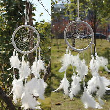 Handmade Dream Catcher Feather Wall Car Hanging Decoration Ornament Decor White