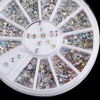Mixed Nail Art 3D Glitter Rhinestones Decoration AB DIAMANTE CRYSTAL Gem Lot