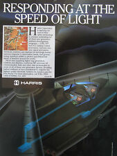 3/1990 PUB HARRIS AEROSPACE AVIONICS ATF A12 LHX FIBER OPTICS DIGITAL MAP AD