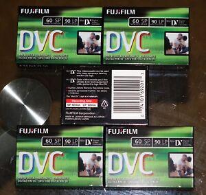 5- FujiFilm DVC Mini DV Digital Videocassettes DVM60 60 SP/ 90 LP Fuji BEST DEAL