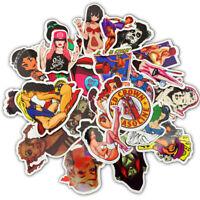 50pcs Sexy Girl Skateboard Stickers Vinyl Laptop Luggage Decals Guitar Sticker A