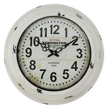 """Large Glass Fronted Shabby Chic Wall Clock. 43cm Diameter (16"""" +) HLZ.1A100MH"""