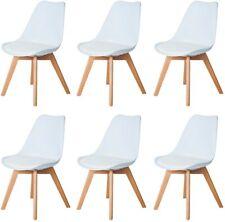 6er Set Esszimmerstühle Skandinavisch Küchenstuhl Stühle Essstühle Weiß Buche