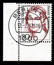 51) Bund Frauen 1305  80 Pf Eckrand 3 Bogenecke TST Berlin 12 cn RAR