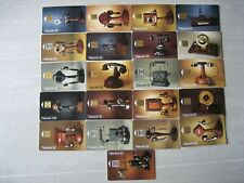 21 PHONE CARD SET / TELECARTE .. FRANCE PACK OLD PHONE TELEPHONE TOPIC USED/CHIP
