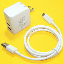 High Power Adapter Charger + Type-C USB 3.1 Charging Cable for LG Stylo 4 Q710MS